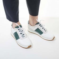 Callao White/Green Strip