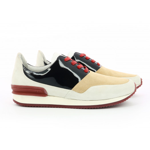 BARRANCO LADY WHITE/BLUE/RED