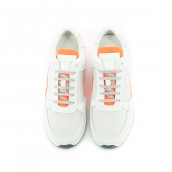 Callao - Blanc Orange Fluo - Homme