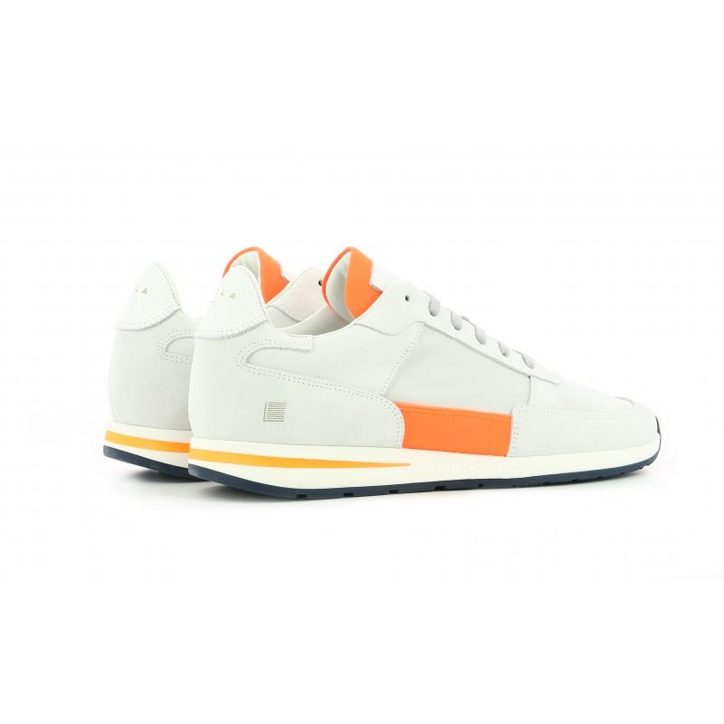 Callao - Blanc Orange Fluo - Homme