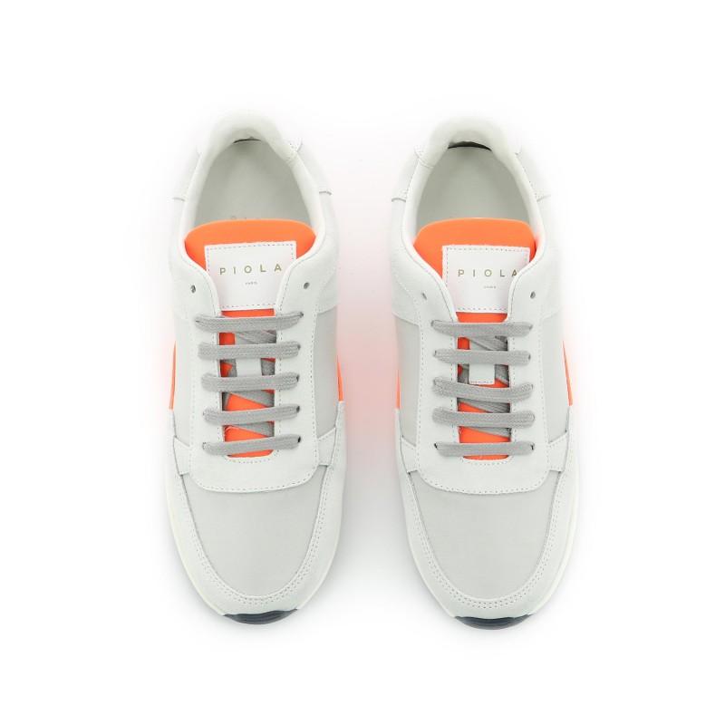 Callao - Blanc Orange Fluo - Femme